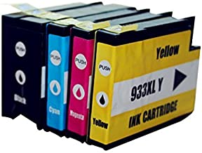 4 Color 1 Set Ink Cartridges for HP 932 XL 933 XL for HP Officejet Pro 6100 6600 6700 Printer with Chip