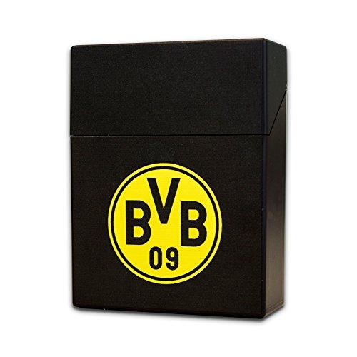 BVB-Zigarettenbox mit Emblem (schwarz)