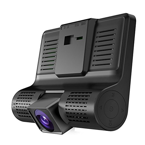 WINOMO Caméra Embarquée Voiture Avant Arriere Dashcam 3 Lentille Full 1080P HD DVR G-senseur Noir