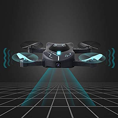 Culater Black Plastic Foldable HD Aerial Vehicle Camera WIFI Pocket Drone Selfie Fold Unmanned Smart RC Drone