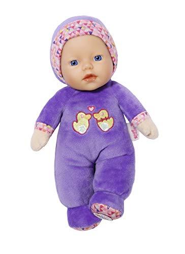 BABY born Zapf Creation 827482 Cutie for Babies Babypuppe mit Rassel im Inneren geeignet ab Geburt 26cm, lila