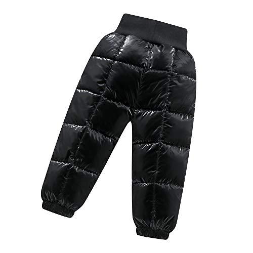 Baby Winter Hose Jungen Mädchen Leicht und Warm Sweathose Elastischer Bund Lange Hosen Sporthose für den Außenbereich 24-36 Monate