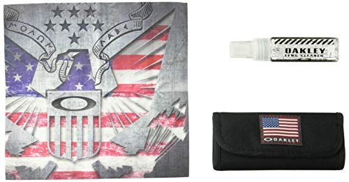 Oakley Unisex-Adult Usa Flag Lens Cleaning Kit Replacement Lenses, USA Flag, 0 mm