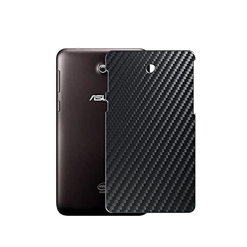 VacFun 2 Piezas Protector de pantalla Posterior, compatible con Asus Fonepad 7 LTE ME372CL with LTE band 7', Película de Trasera de Fibra de carbono negra Skin Piel