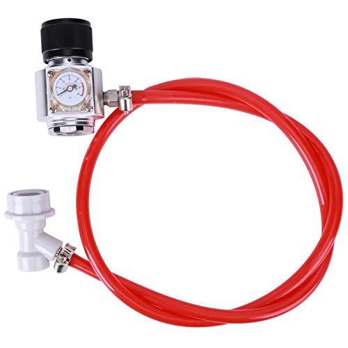 DAUERHAFT Válvula reguladora de presión TR21 Tubo de conexión de Agua de Soda de Acero Inoxidable de Aluminio, con válvula de Contacto TR21‑4