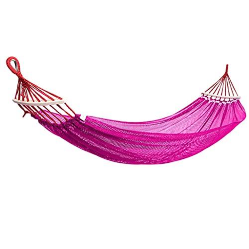 WSYGHP Hamaca de acampada doble portátil al aire libre Hamaca de paracaídas ligera 220 libras, para mochileros, hamaca de viaje (color: G, tamaño: 200 x 130 cm)