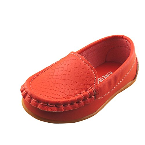 Gaorui Baby Toddler Slip on Moccasin Boat Shoes Walking Flats Child Loafer Pea Oxfords