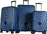 My Little Train - Set de Valises Clipsables Entre Elles - Système Breveté - 3 Valises Coque ABS et Cadenas TSA Intégré - Valise Cabine + Valise Moyen Séjour + Valise Long Séjour - Coloris Bleu