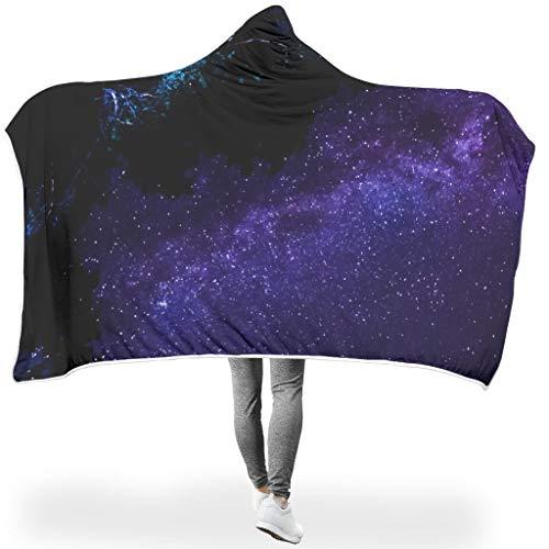 Ainiteey knuffelig gekleurde deken met capuchon zodat de mensen goed slapen voor bed in koud weer, prachtige stijl Starry Sky