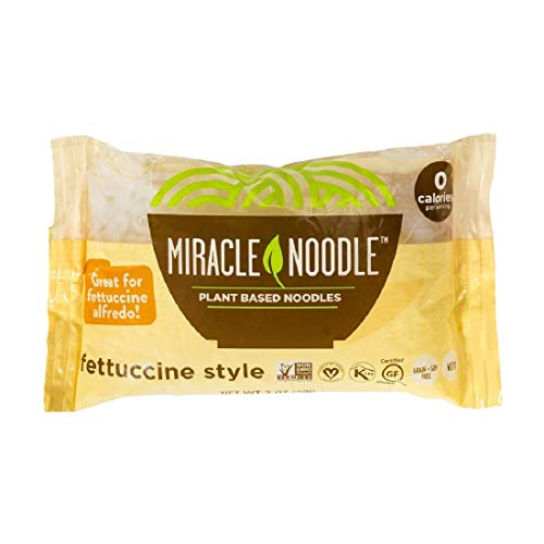 Miracle Noodle Shirataki Fettuccini, Gluten-Free, Zero Carb, Keto, Vegan, Soy Free, Paleo, Blood Sugar Friendly, 7oz (Pack of 6)
