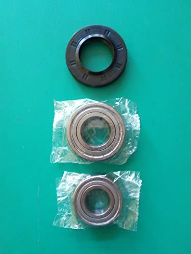 Kit de rodamientos + junta para agua lavadora 37 × 66 × 9,5/12 6205ZZ SKF + 6206ZZ SKF