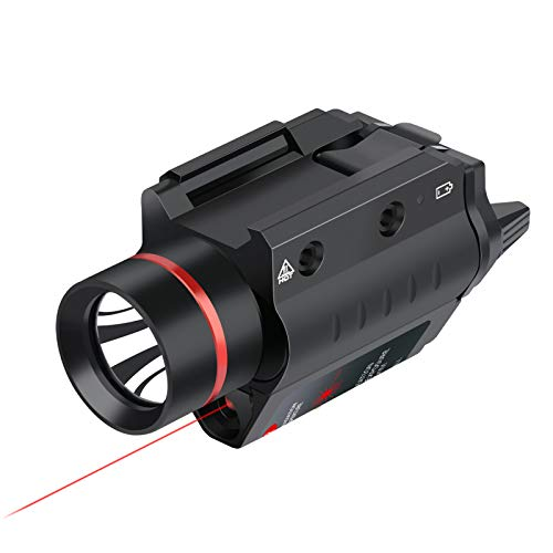 Feyachi LF-38 Red Laser Flashlight Combo 200 Lumen Weapon Light with Picatinny Rail Mount