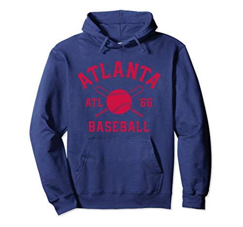Atlanta Baseball | ATL Vintage Brave Retro Gift Pullover Hoodie