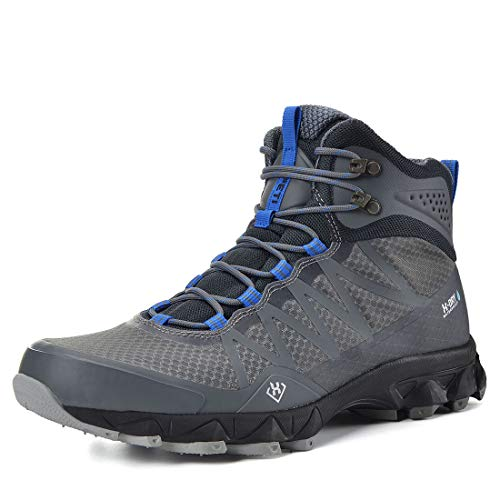 XPETI Men's FASTRAIL MID Light Hiking Boot (11, Grey/Blue)