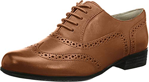 Clarks Damen Hamble Oak Derby, Braun (Dark Tan Leather), 40 EU