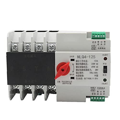 Interruptor de transferencia automática de doble potencia de CA 380V 80A 4P del interruptor eléctrico equipos eléctricos electrónicos de seguridad para carril DIN