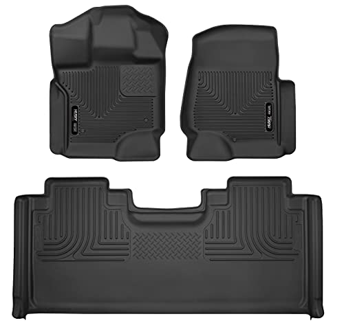 Husky Liners 94071 Fits 2017-20 Ford F-250/F-350 SuperCab Weatherbeater Front &...