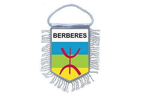 Akachafactory Mini banner vlag pennant venster spiegel auto's banner amazigh berber kabylie