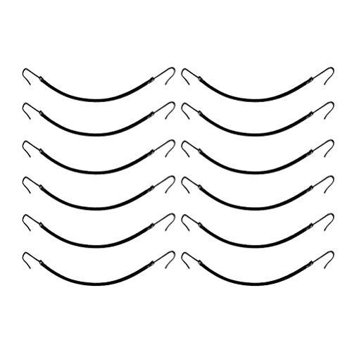 Lurrose Ponytail Hooks Black Elastiques Cravates Élastiques à Cheveux Sangle cheveux fragiles, Paquet de 12