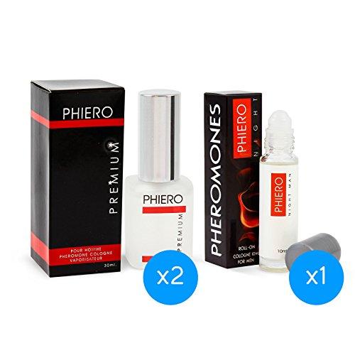 2 Phiero Premium + Phiero Night Man: Parfüms mit Pheromonen für männer