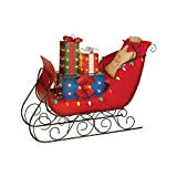 Everstar Pre-Lit LED Christmas Holiday Lighted Vintage 54' Vintage Sleigh with Presents
