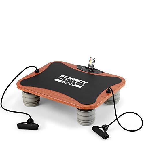 Schmidt Sportsworld VIB11 950279 - Plataforma vibratoria triplano, para tonificación y ejercicios especiales de biceps, triceps y abdominales, color negro
