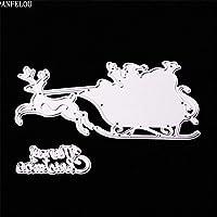 クリスマスクリスマス鹿車スクラップブッキングDIYアルバムカード紙ダイメタルクラフトステンシルパンチカットダイカット