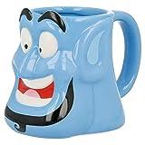 Disney - Tazza in ceramica 3D, 350 ml, Genio Aladdin' (90171), non applica, colore: nero