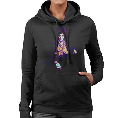 TV Times Joan Collins at Home 1971 Pop Art Stylised Women's Hooded Sweatshirt
