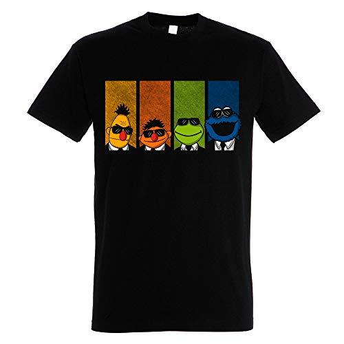 Pampling T-Shirt Reservoir Muppets - Maglietta Sesamo Apriti - Le iene - Cotone 100% - Serigrafia di Alta qualità.