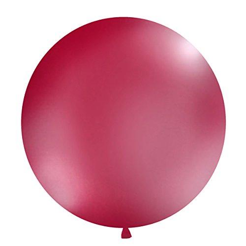 Simplydeko XXL Ballon 100cm | Riesenballon-Deko für Party, Garten und Hochzeit | Luftballons (Amarena-Rot)