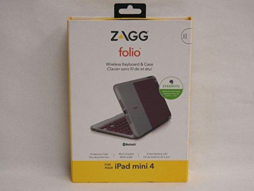 ZAGG - Funda Tipo Libro para iPad Mini 4 (Teclado no retroiluminado), Color Morado