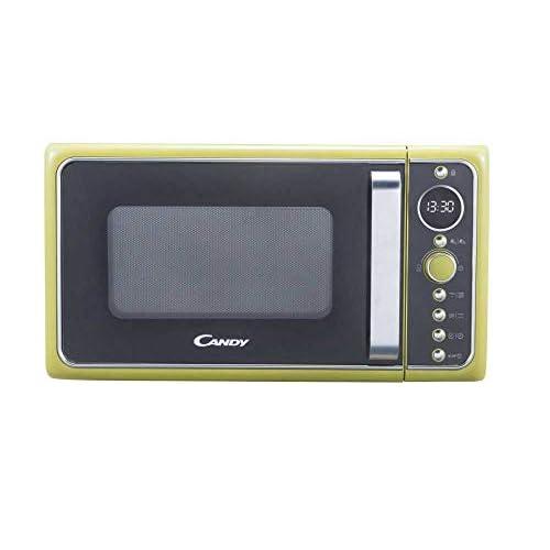 Candy DIVO G25CG Forno Microonde con Grill, 25 Litri, 900 W, Funzione Crisp, Piatto rotante in vetro, Libera Installazione, 48.3x42.5x28.1 cm, Stile Vintage, Verde