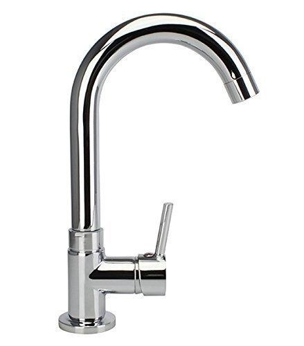 RONDO Kaltwasser Waschbeckenarmatur Armatur Standventil Wasserhahn Waschtisch Waschtischarmatur Kaltwasserhahn Einhebel EHM Gäste-WC chrom