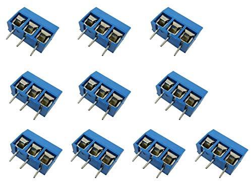Aihasd 10PCS Screw Terminal Leiterplatten-Anschlussklemme Block 5.08mm 2 Pin Pitch Klemme...