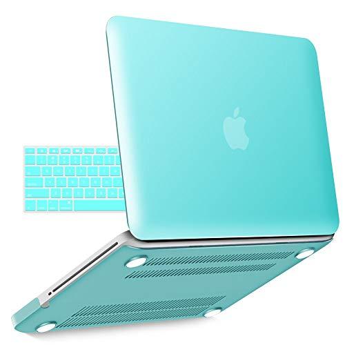 iBenzer - copertura in plastica duro di serie Soft-Touch per 13 pollici MacBook Pro 13.3 '' (Modello: A1278), Turchese MMP13TBL