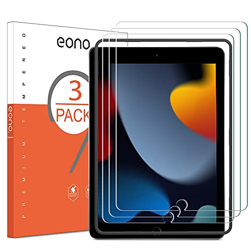 Amazon Brand – Eono [3 Stück] Panzerglas kompitabel mit iPad 10.2 (iPad 9. Generation/iPad 7/8. Generation) / iPad Air 3 (10.5 Zoll) / iPad Pro 10.5, 2.5D, 9H, Anti-Kratzen,Anti-Bläschen