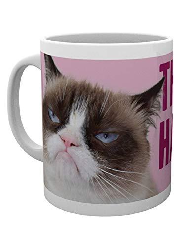 GB Eye LTD, Grumpy Cat, Happy Face, Taza