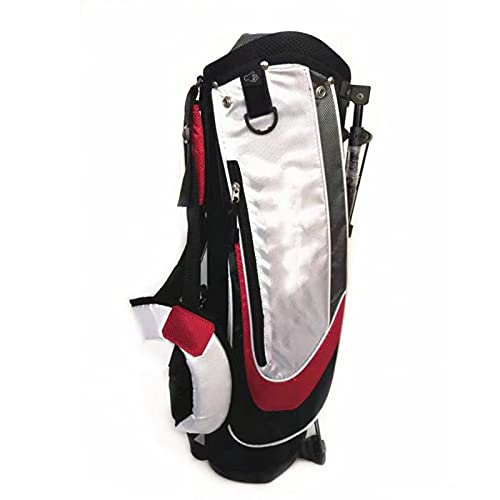 ZQYR Conveniente, Bolsa de Golf Holeultralight portátil con Correa de Hombro y Soporte, Base Estable, Fuerte Estabilidad y Durabilidad 423 (Color : Red)