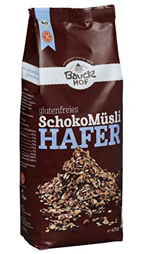 Muesli Senza Glutine Bio Avena E Cioccolato 425g | Muesli Integrale Senza Glutine e zucchero -...