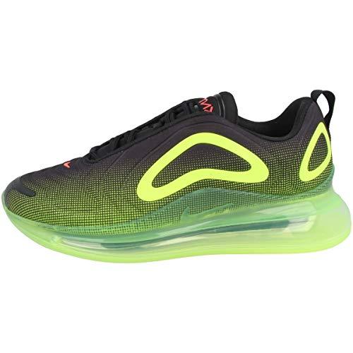 Nike Men's Air Max 720 Running Shoe (Black/Bright Crimson-Volt, 10)