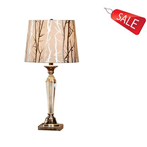 Lampe de table américain cristal chambre lampe de chevet européen luxe moderne minimaliste créatif chaleureux salon lampe de table E27