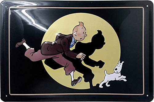 Tintin - Tim und Struppi Retro Blechschild Comic Film Fernsehen Lustig