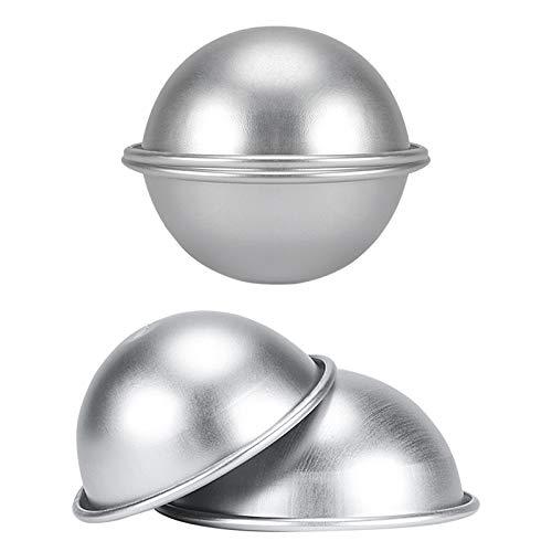 Yosoo Health Gear Demi-Sphères Moule à Gâteau Aluminium,Master Class Moule Demi Sphère en Aluminium, H009 Petit Moule à Gâteau Hémisphère, Moule à Gâteau Dessert Pudding (9.2 X 4cm)