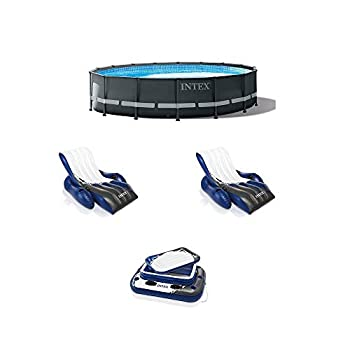 Intex 16ft x 48in Ultra XTR Round Frame Pool Pump Cooler & Floats  2 Pack