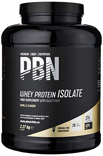 Premium Body Nutrition - Whey-ISOLATE Protein Powder, 2.27kg, Vanilla - 75 Servings
