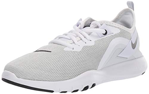 Nike Women's Flex Trainer 9 Sneaker, White/Black-Pure Platinum, 7 Regular US