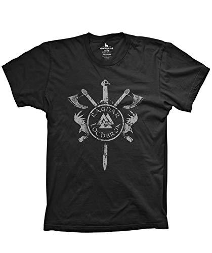 Guerrilla Tees Ragnar Tshirt Funny Ragnar Shirt, Black, 3X-Large