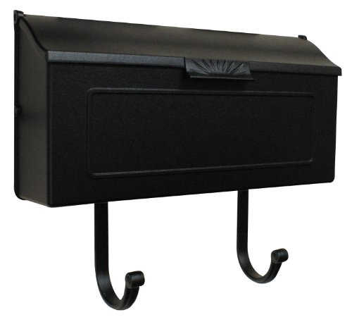Special Lite Products SHH-1006-BLK Horizon Horizontal Mailbox, Black