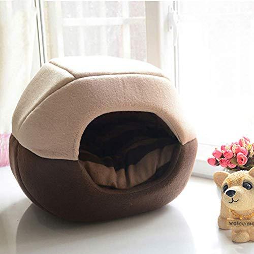 Yurta Mongola Hondenmand voor puppen, knuffelig, 2-in-1, winddicht, draagbaar, opvouwbaar, voor katten, universeel, vier seizoenen, geschikt voor huisdieren tot 6 kg, A, L, M, B